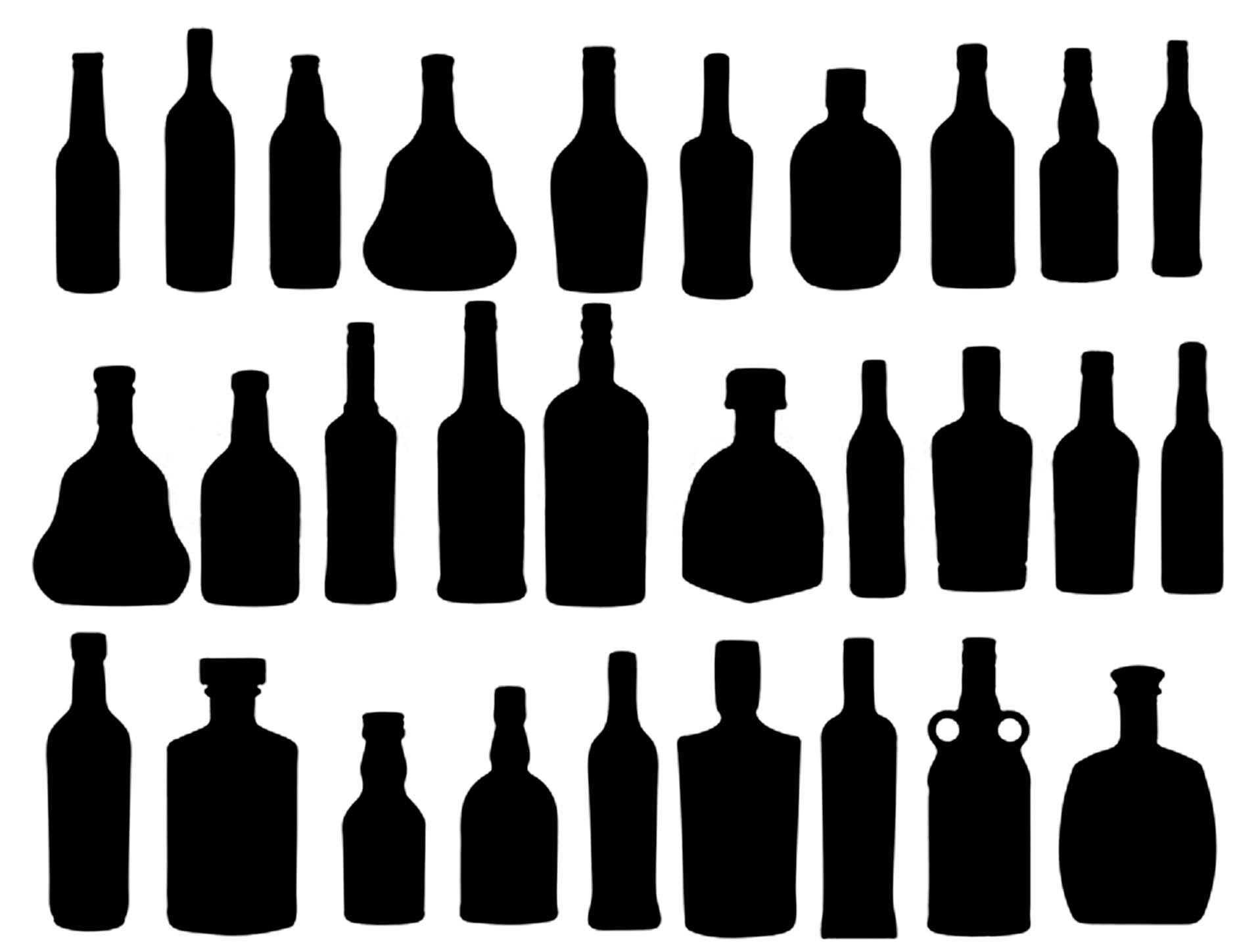 Free Bottle Silhouette Download Free Clip Art Free Clip