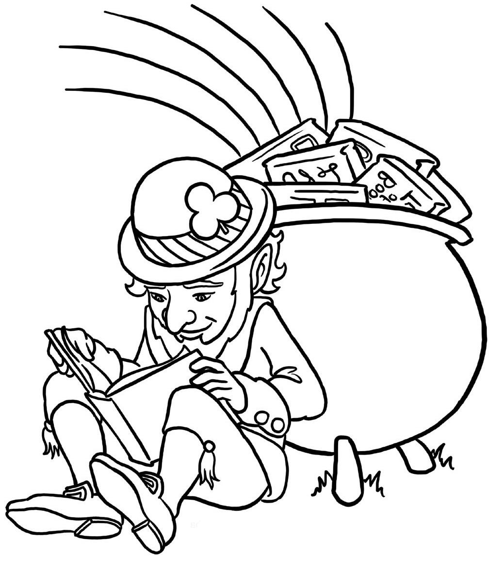 Leprachauns Colouring Pages Page 2