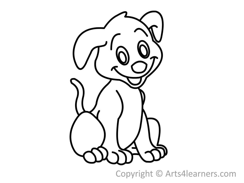 How To Draw A Puppy Arts4learners