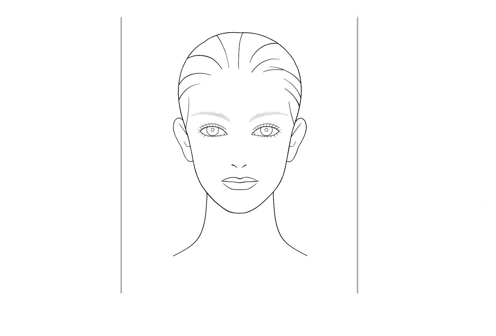 Blank Face Template For Make Up
