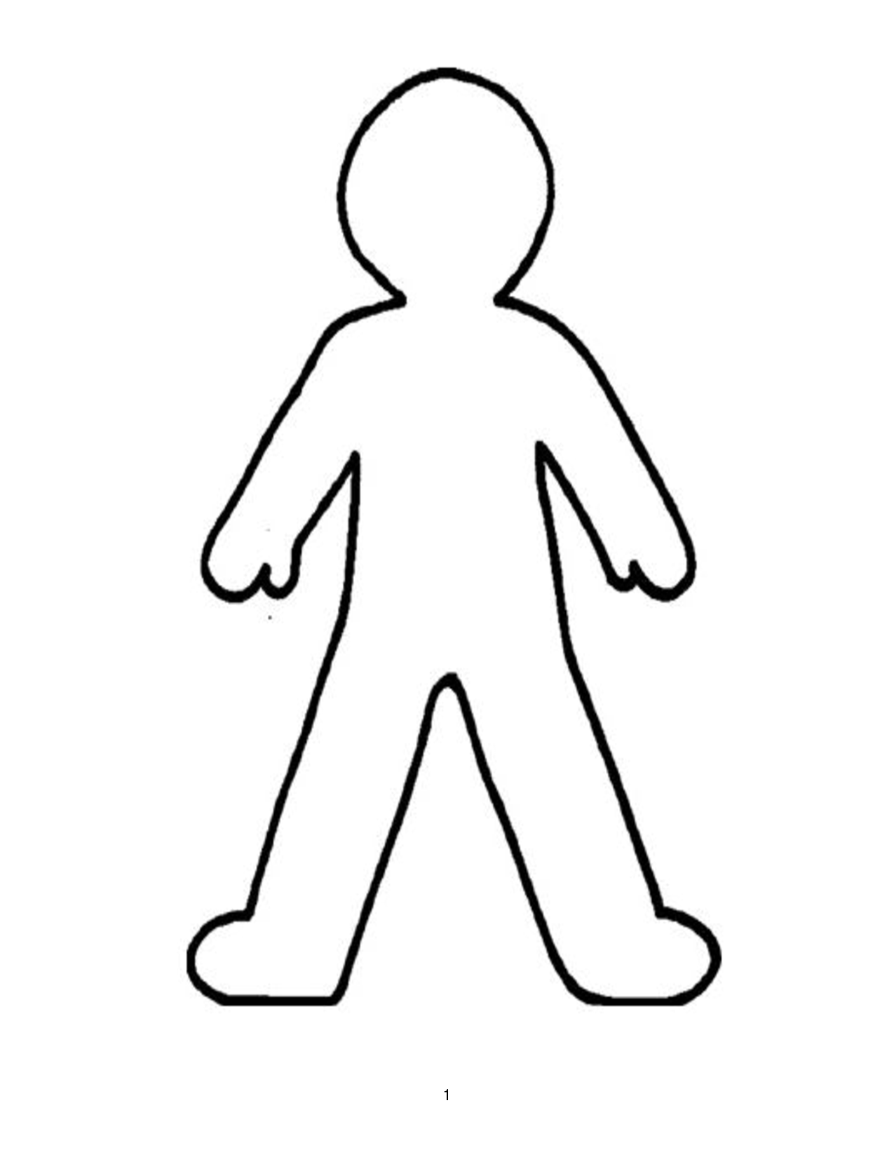 Free Person Outline Printable Download Free Clip Art Free Clip Art On Clipart Library
