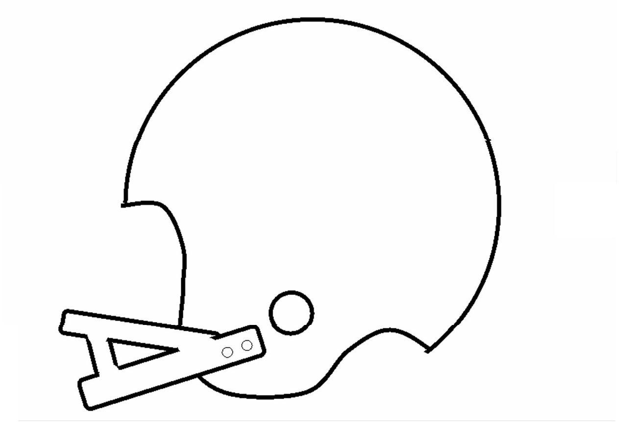 Football Helmet Stencil