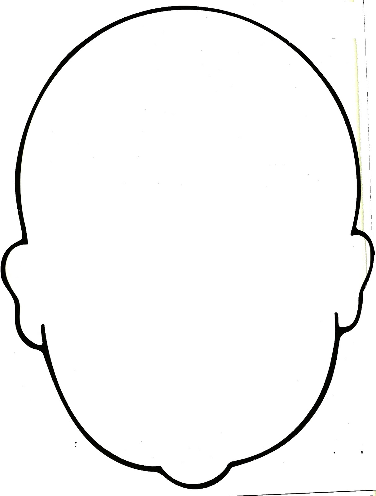 Blank Faces Template