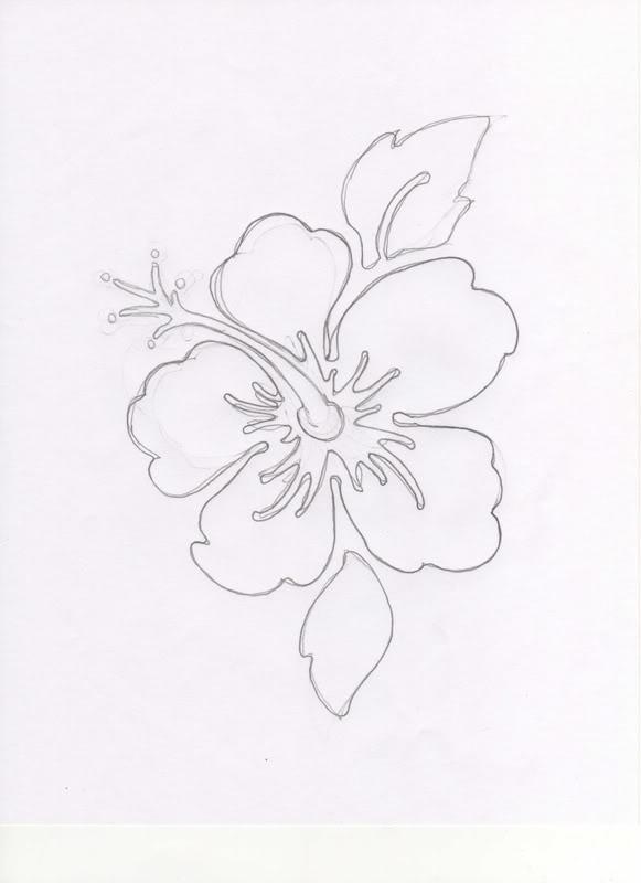 Free Hawaiian Flower Drawing Download Free Clip Art Free