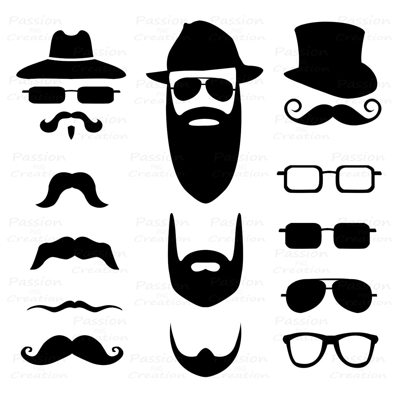 Items Similar To Mustache Clip Art Digital Mustache