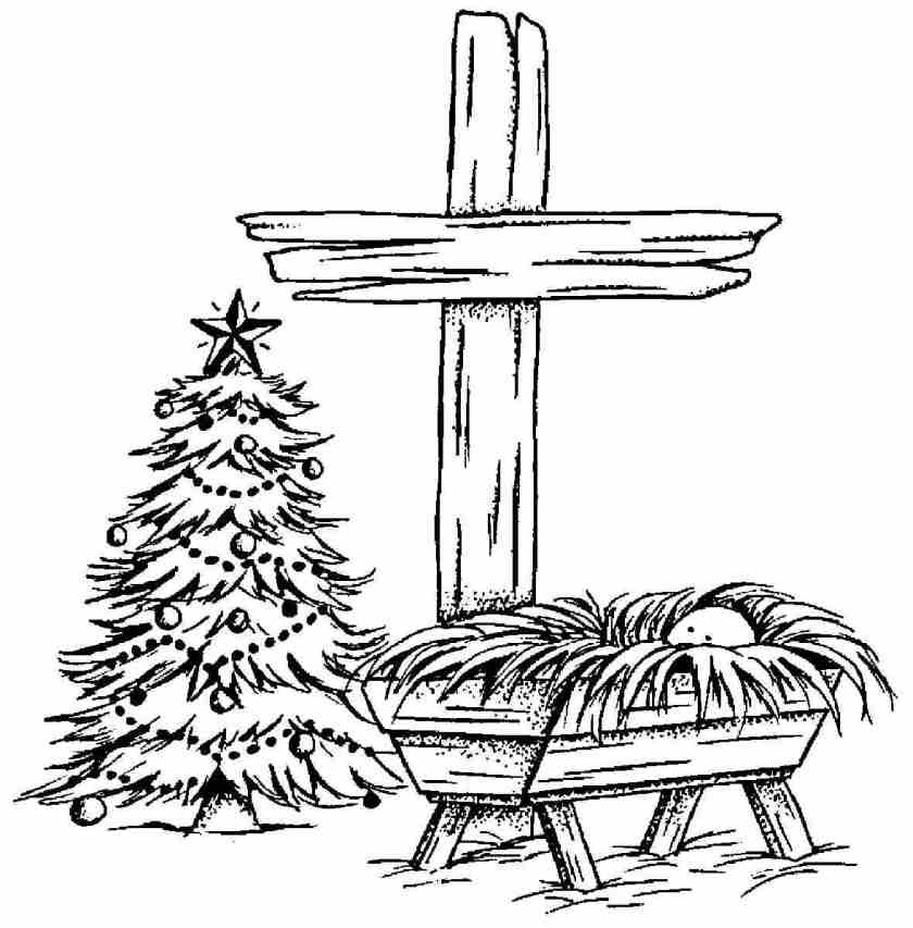 free picture of baby jesus in a manger download free clip