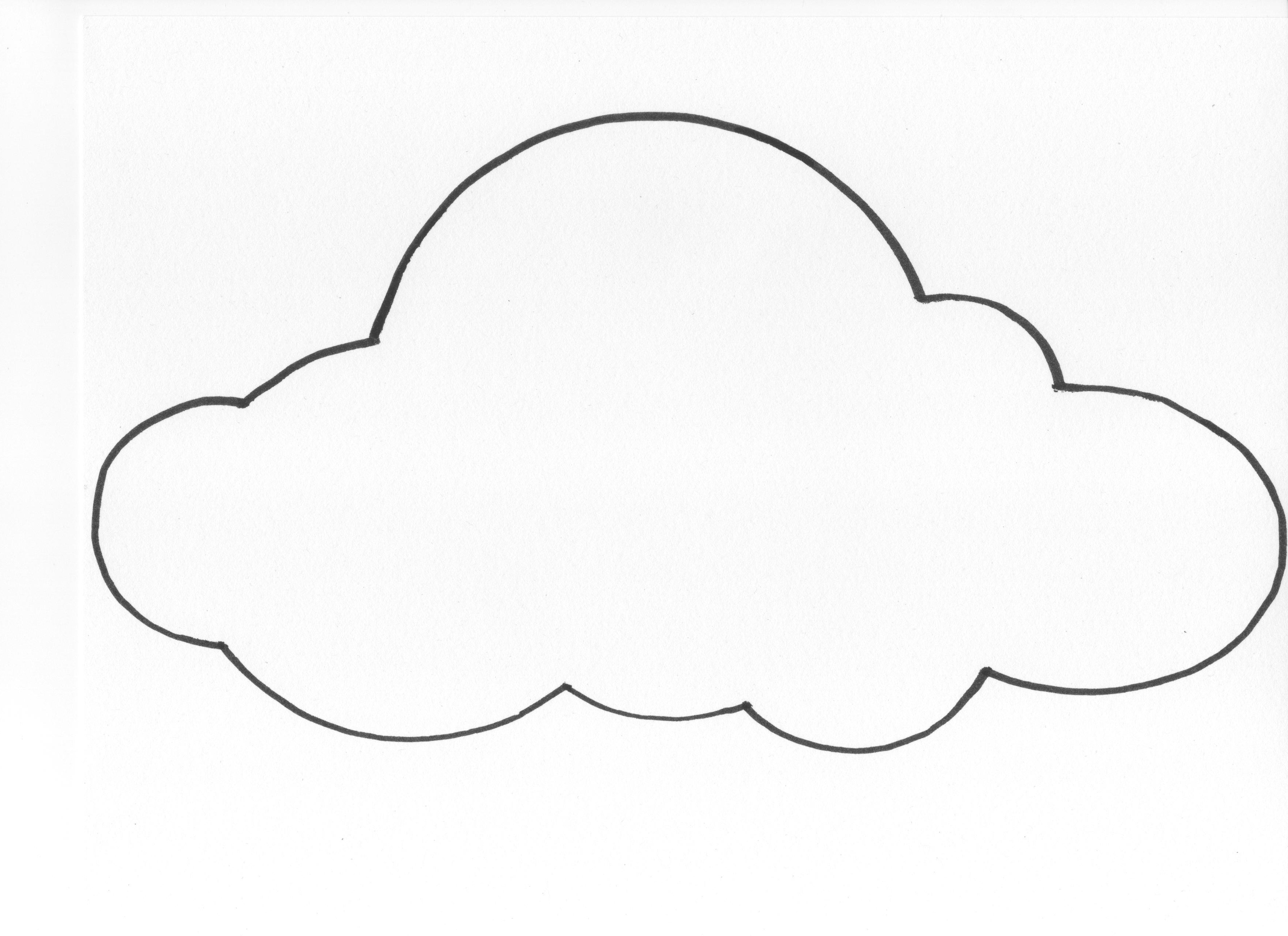 Free Printable Cloud Template Download Free Clip Art Free Clip Art On Clipart Library