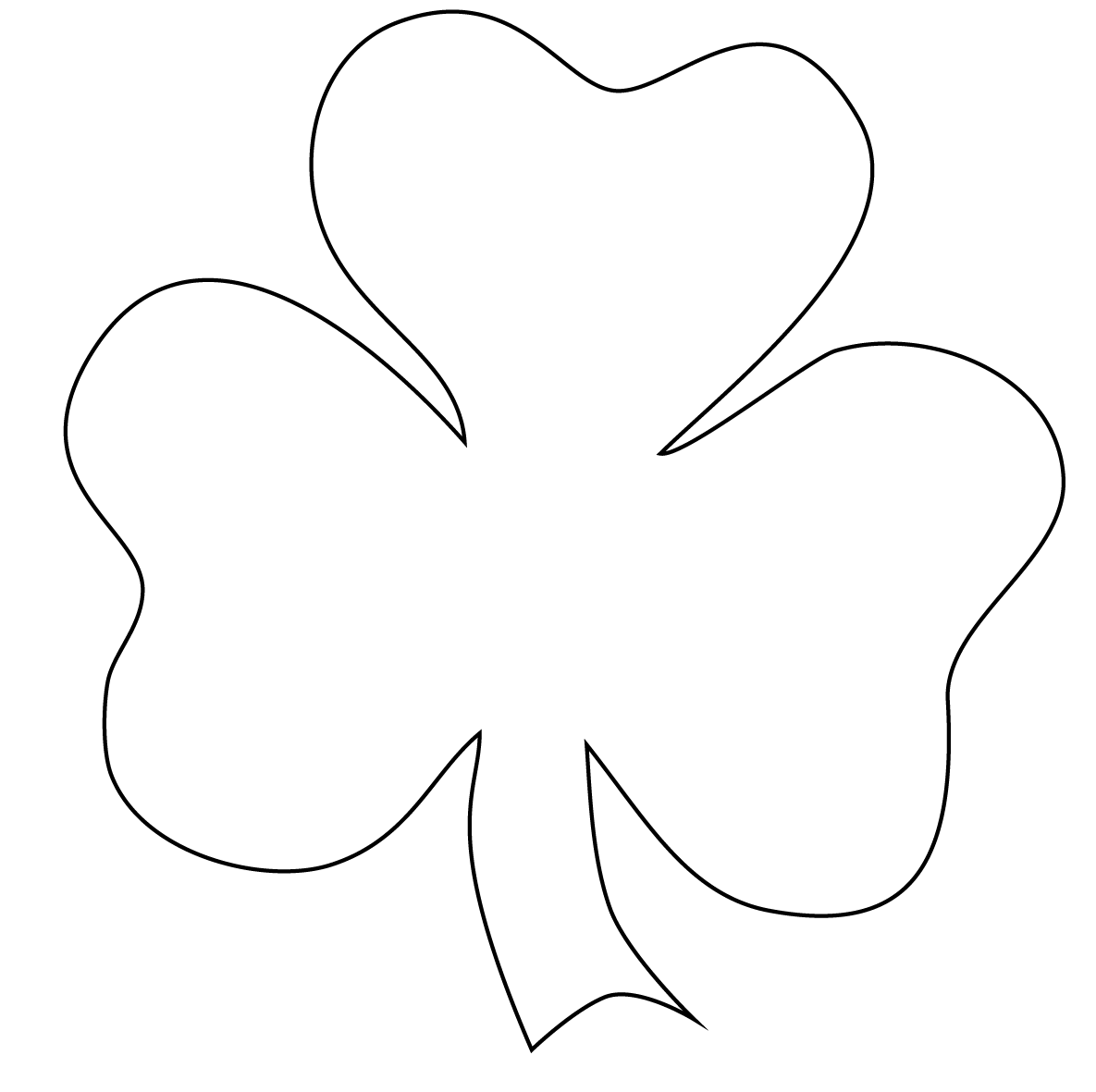Free Shamrock Outline Download Free Clip Art Free Clip