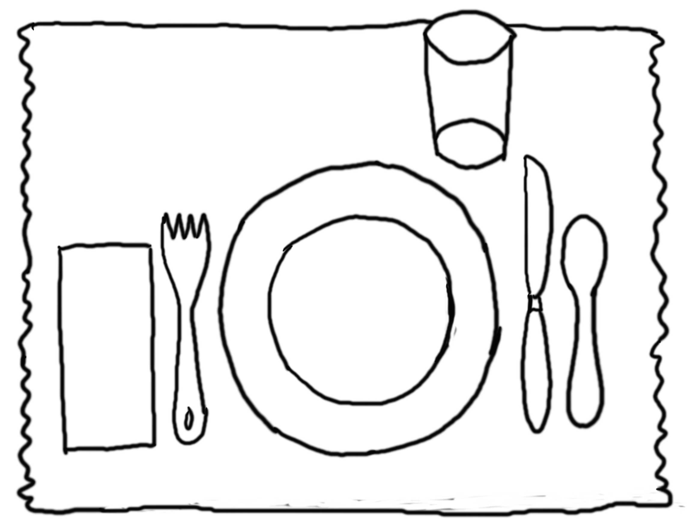 Placemat Coloring Page