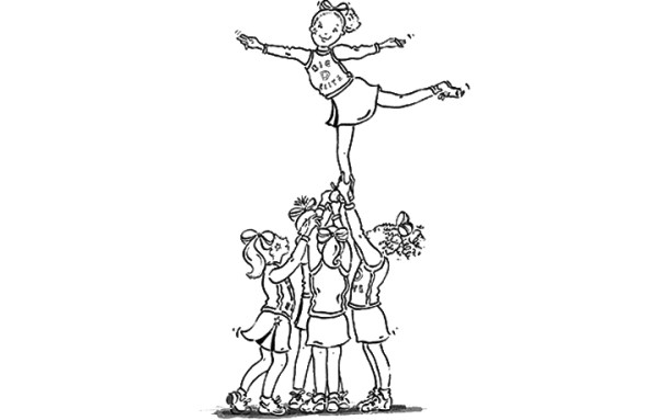 cheer coloring pages # 7