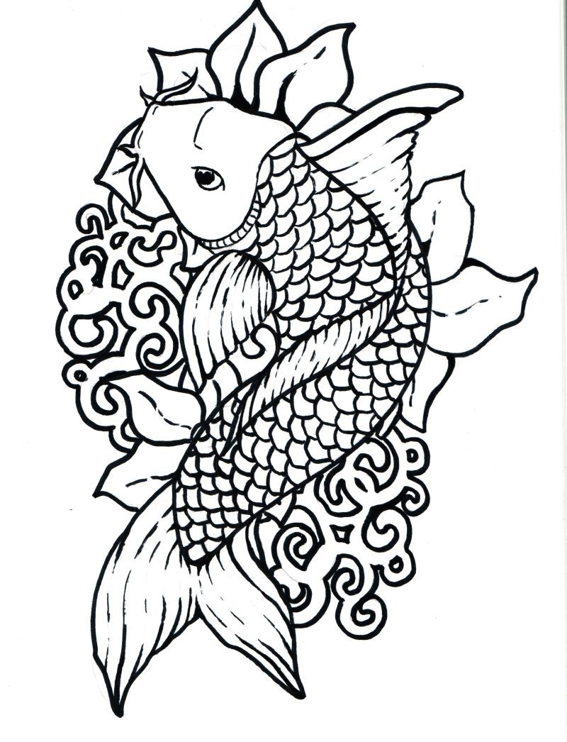 Koi Fish Coloring Page 59j3o743 Hd Printable Coloring Pages
