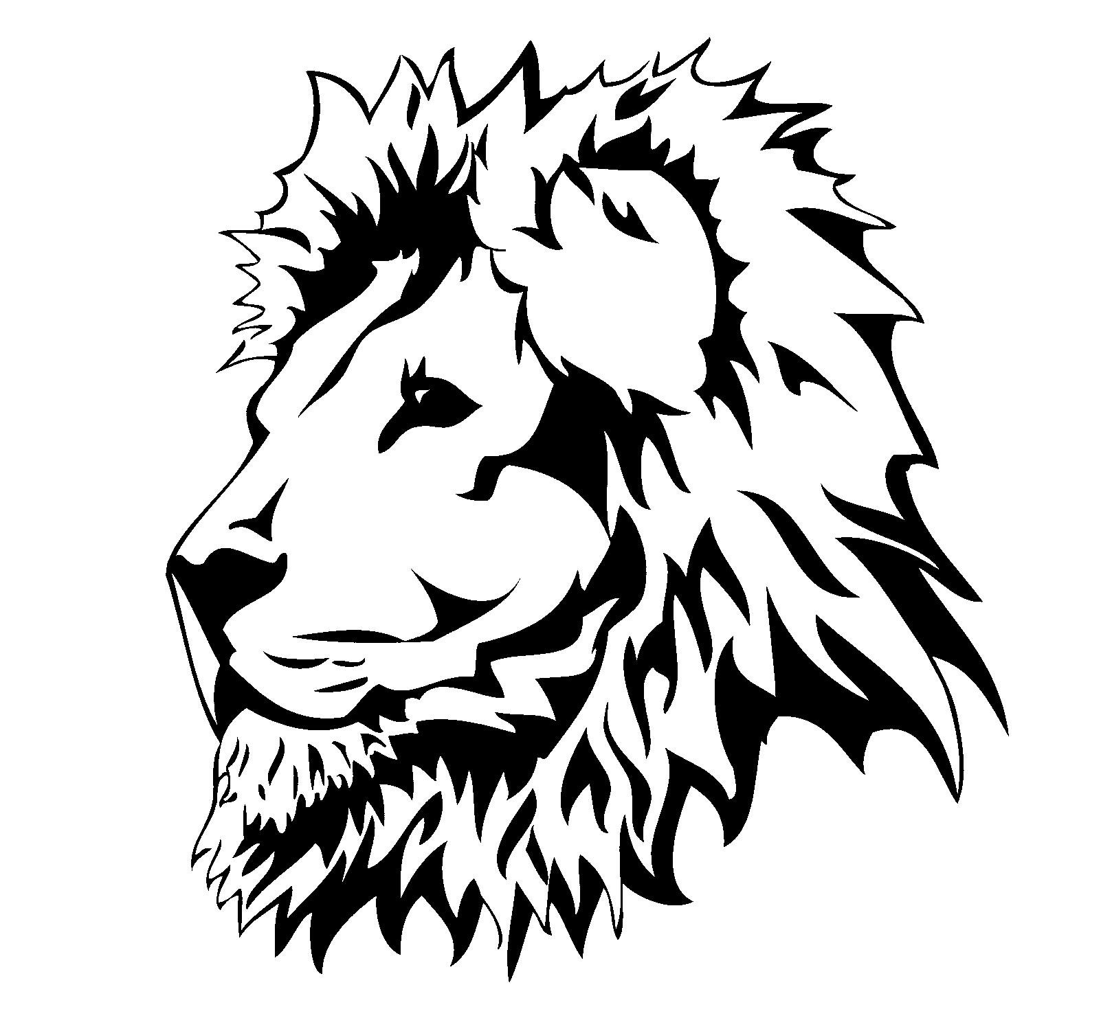 Lion Head Art
