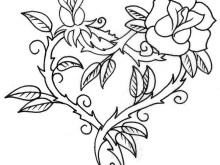 Rose Teenager Flower Cute Coloring Pages