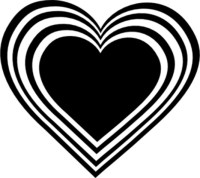 valentines day hearts black and white