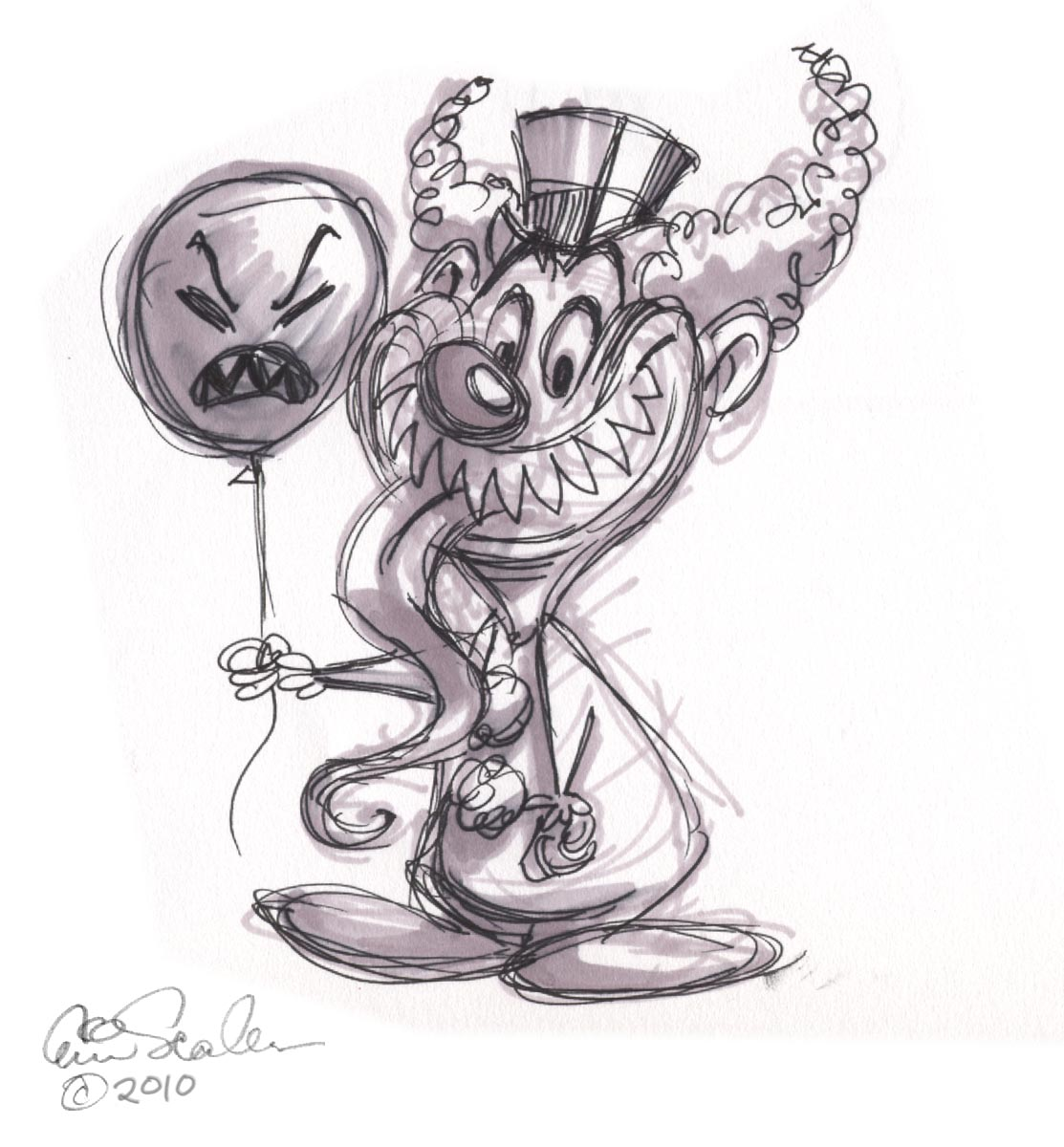 Free Easy Way To Draw Scary Clowns Download Free Clip Art Free Clip Art On Clipart Library