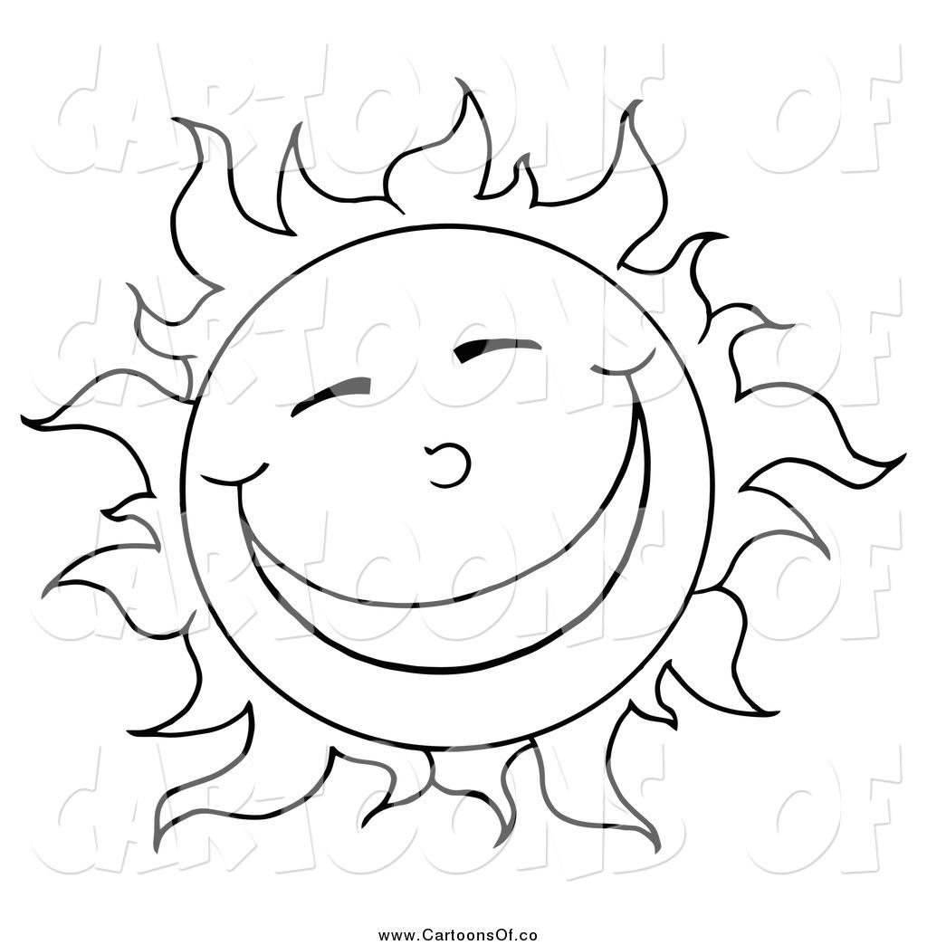 Free Sun Cartoon Black And White Download Free Clip Art