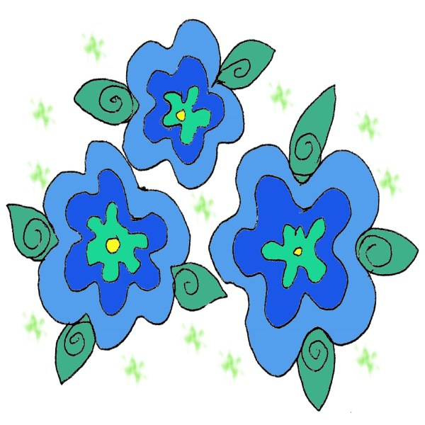 Free Blue Flower Clipart, Download Free Clip Art, Free ...