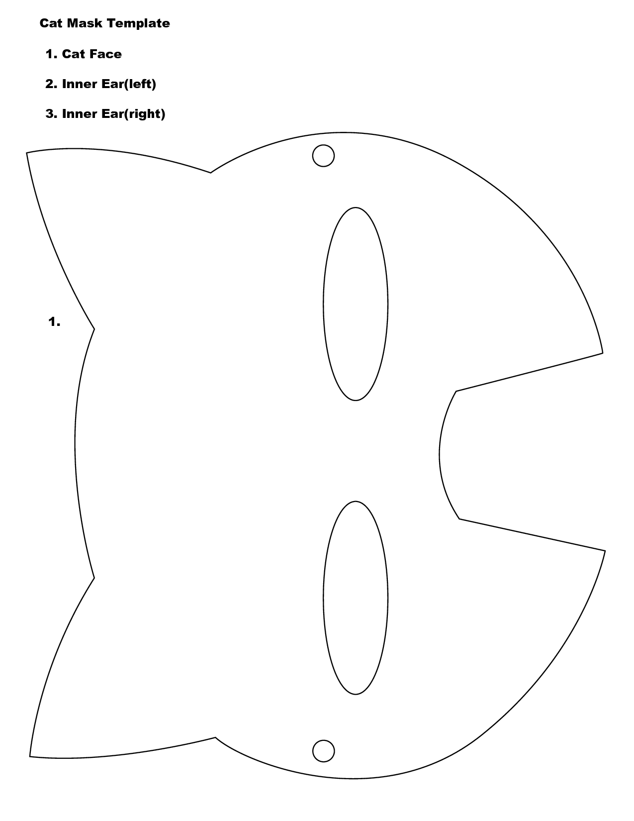 Cat Face Template Printable Images