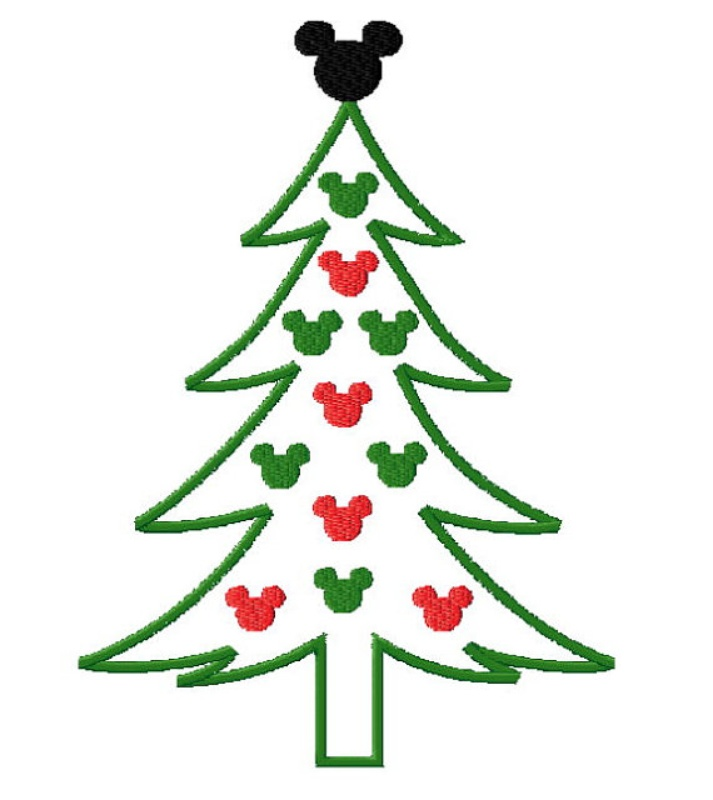Free Outline Of Christmas Tree Download Free Clip Art