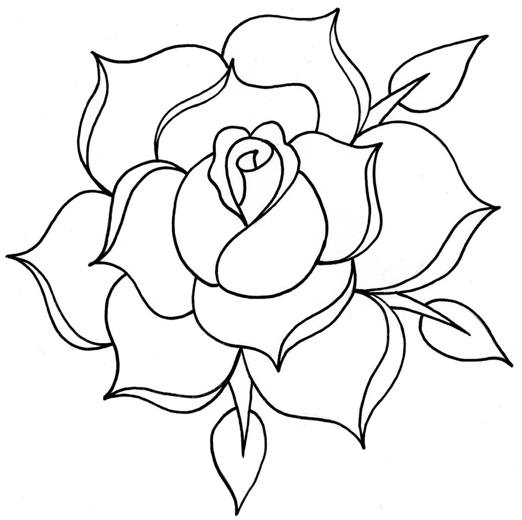 Free Rose Line Drawing Download Free Clip Art Free Clip
