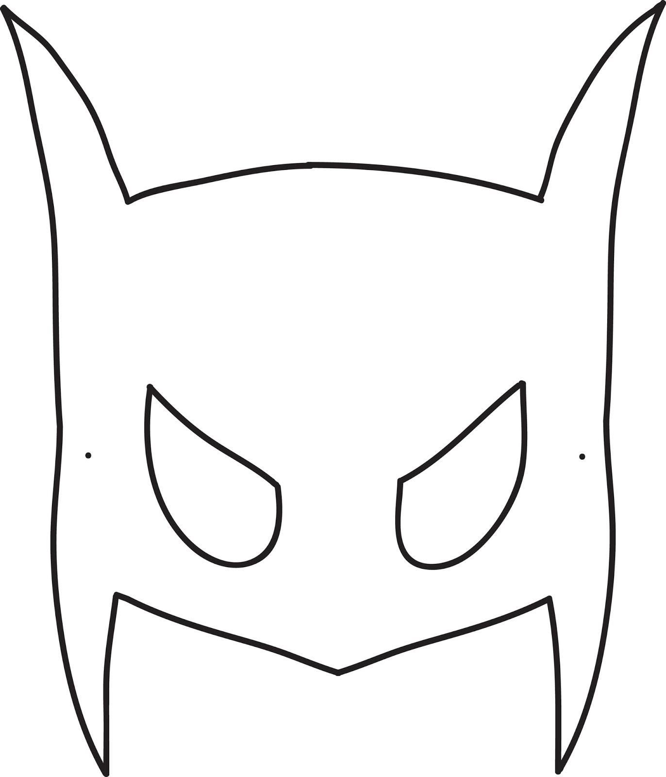 Sample Batman Mask Template