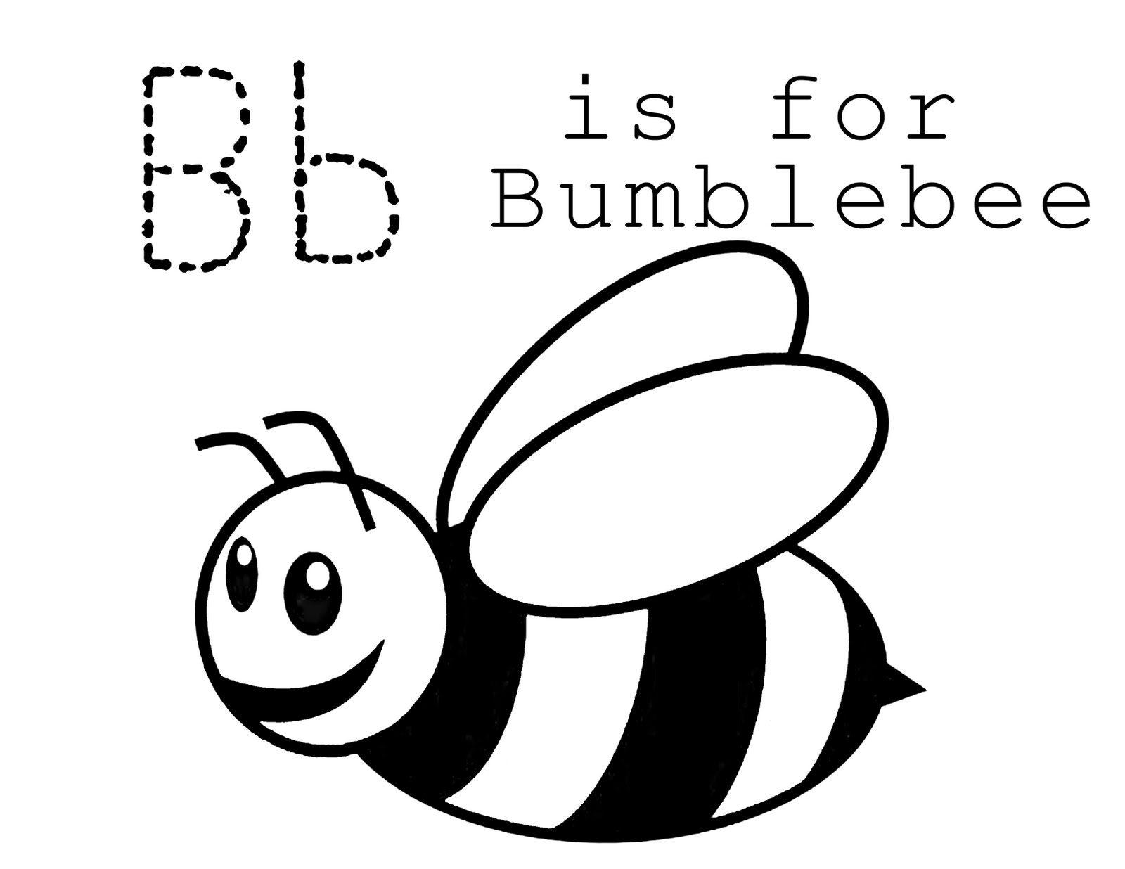 Free Cartoon Bee Coloring Page Download Free Clip Art