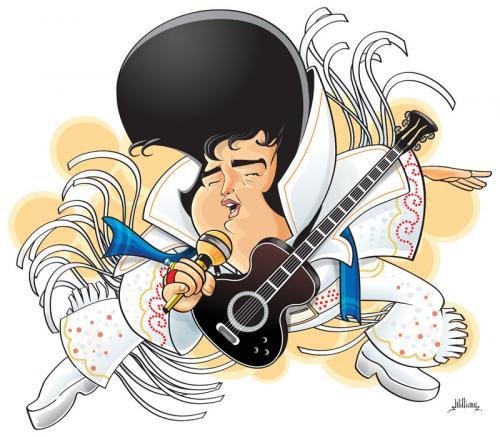 Elvis Presley By William Medeiros Famous People Cartoon