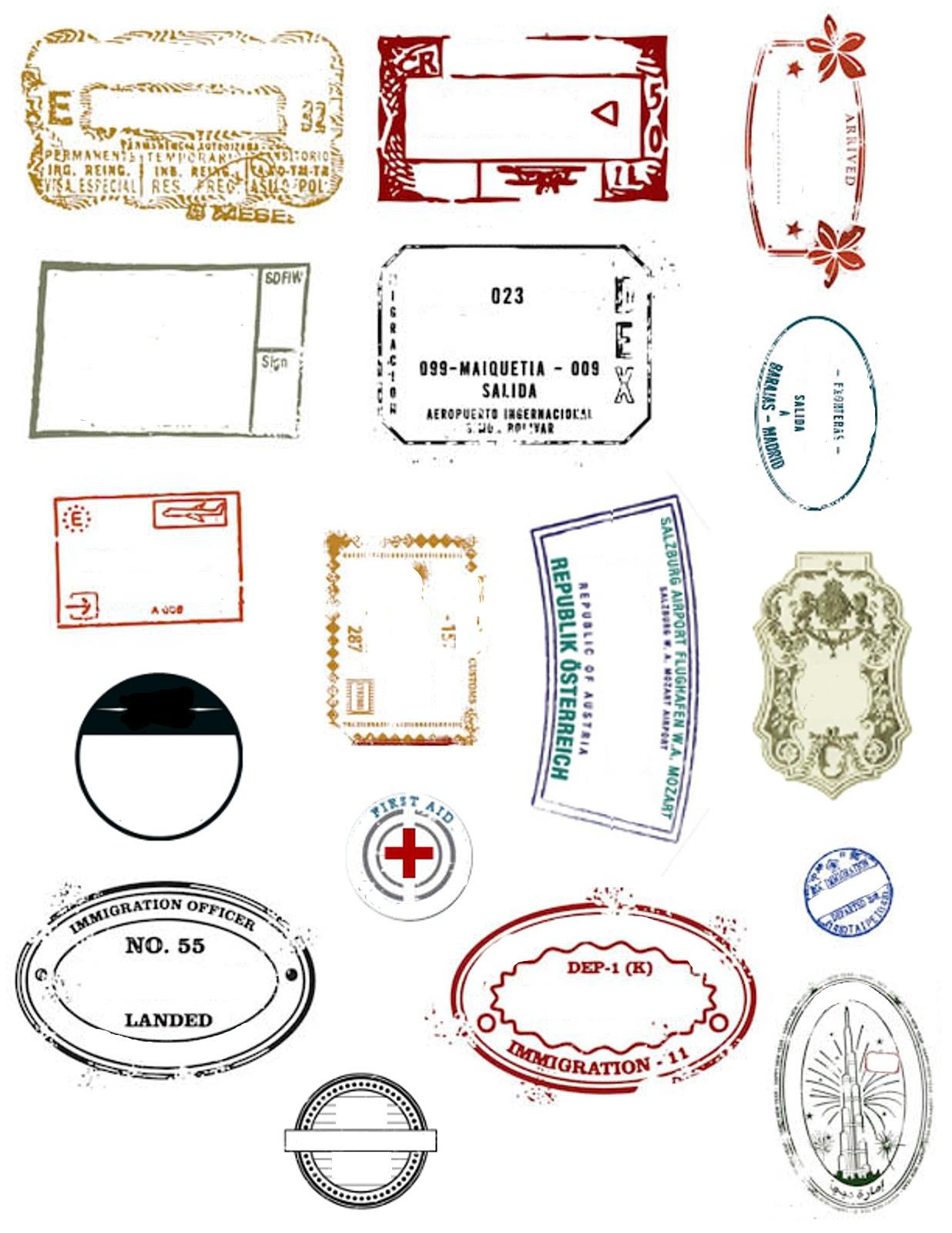 Free Passport Stamp Template Download Free Clip Art Free