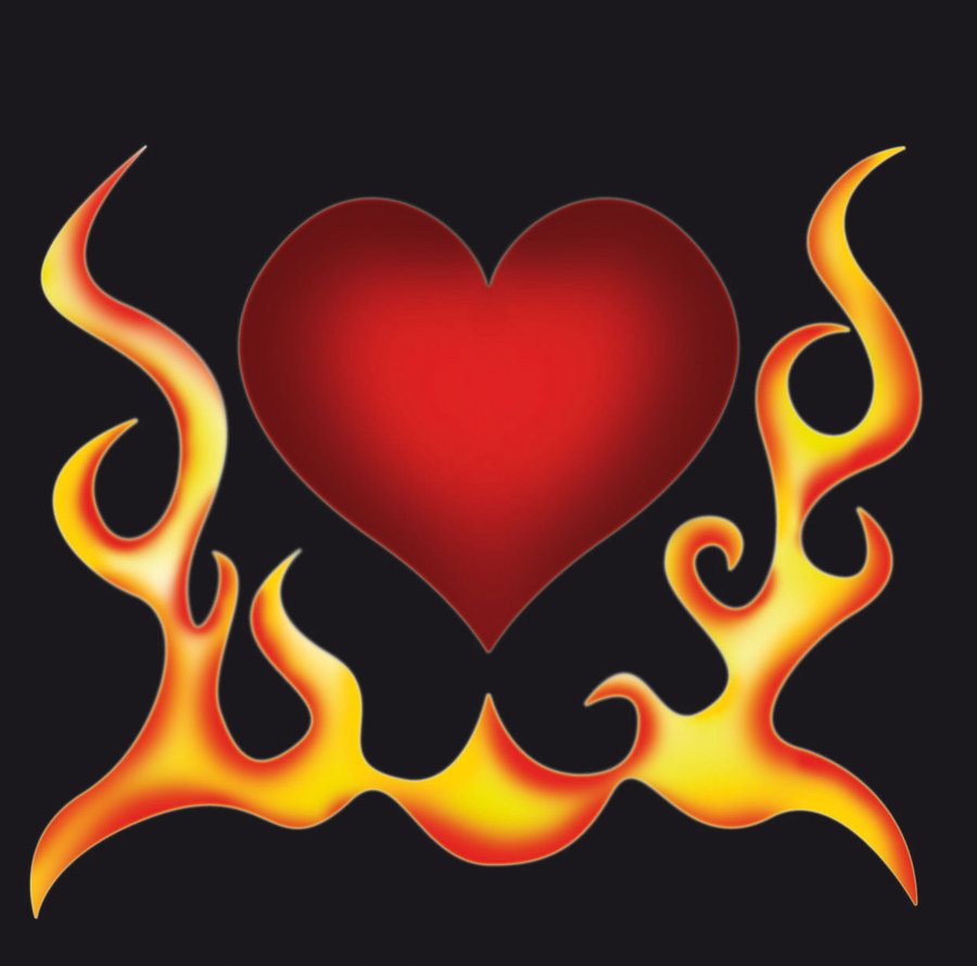 Heart With Flames Drawings Images Pictures Becuo