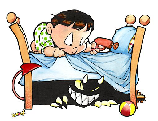 Image result for boogie man under bed free image cartoon