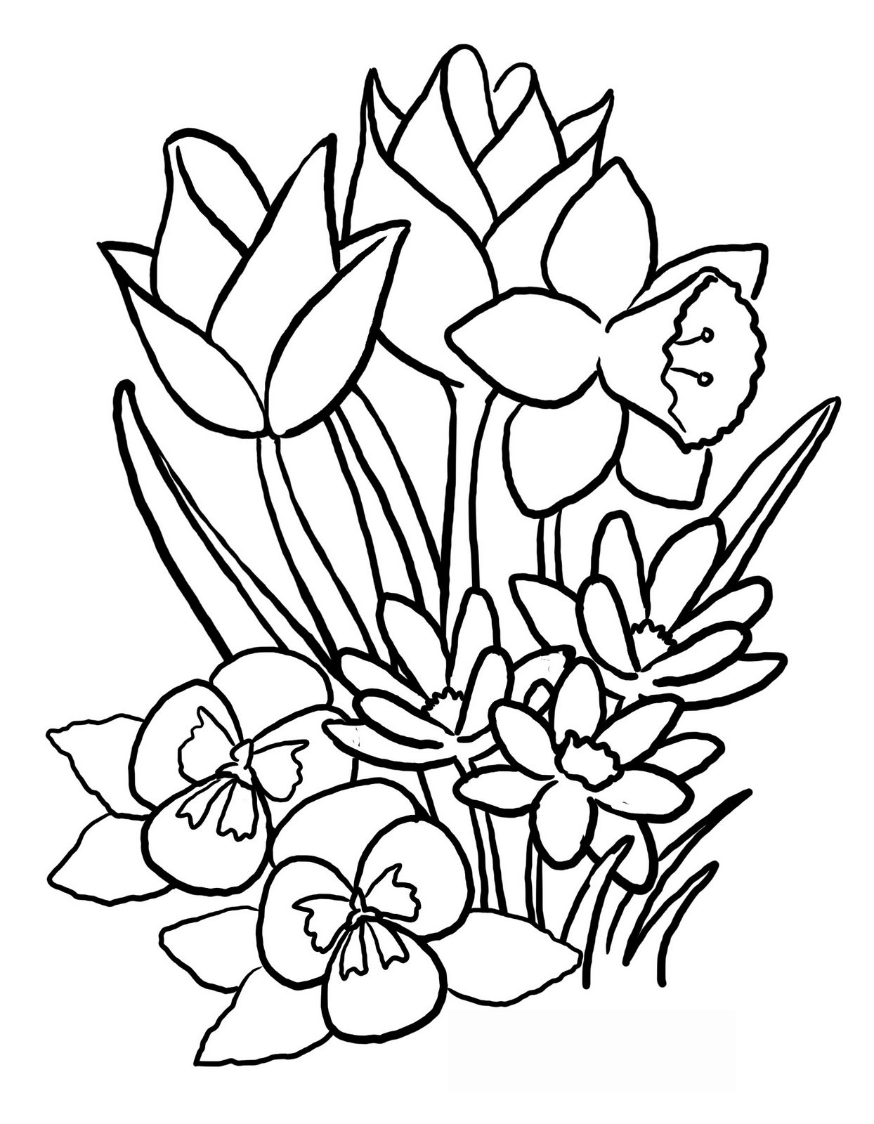 Free Drawing Of Spring Flowers Download Free Clip Art