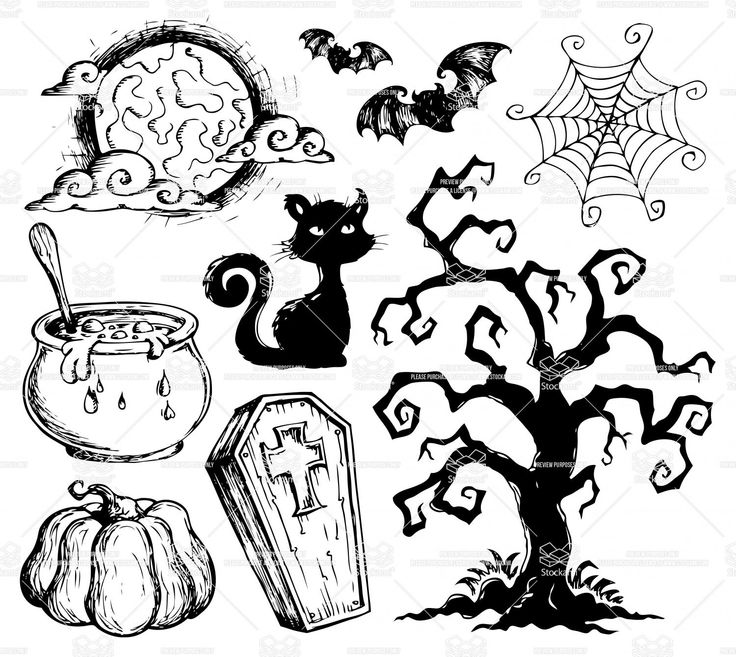 Decorating a small home might seem like a bit of a challenge at first. Easy Halloween Drawing Ideas Clip Art Library