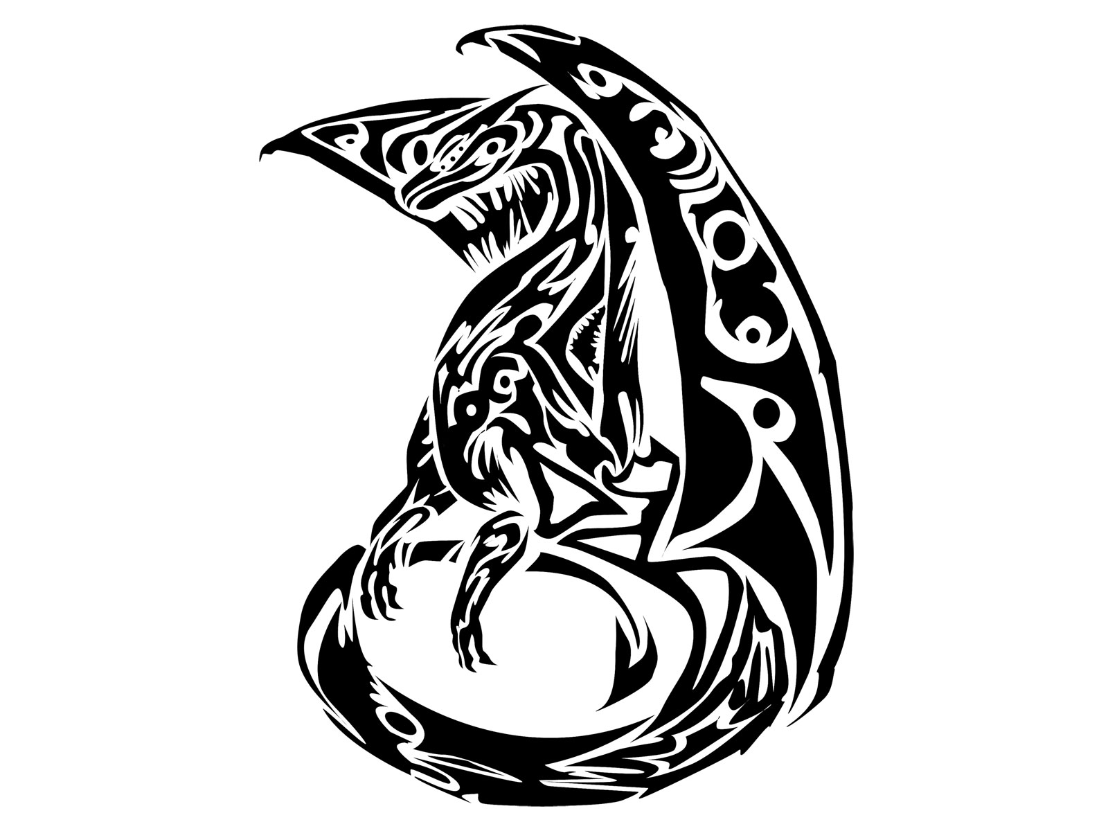 Tribal Celtic Wolf