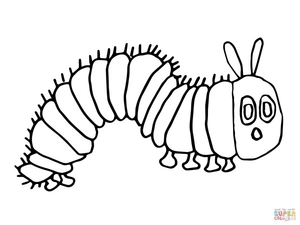 hungry caterpillar coloring pages # 13