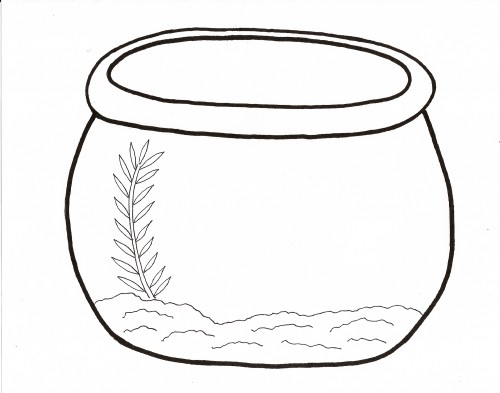 Free Fish Bowl Coloring Sheet Download Free Clip Art Free Clip Art On Clipart Library