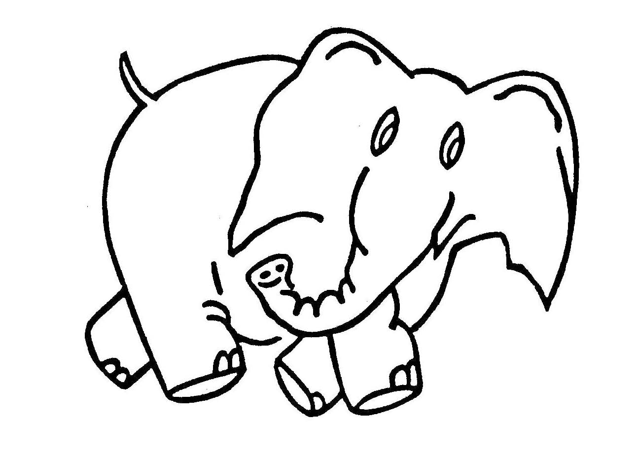 Elephant Drawings For Kids