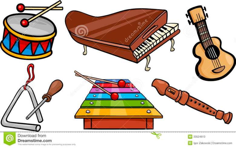 free cartoon musical instruments, download free clip art, free clip