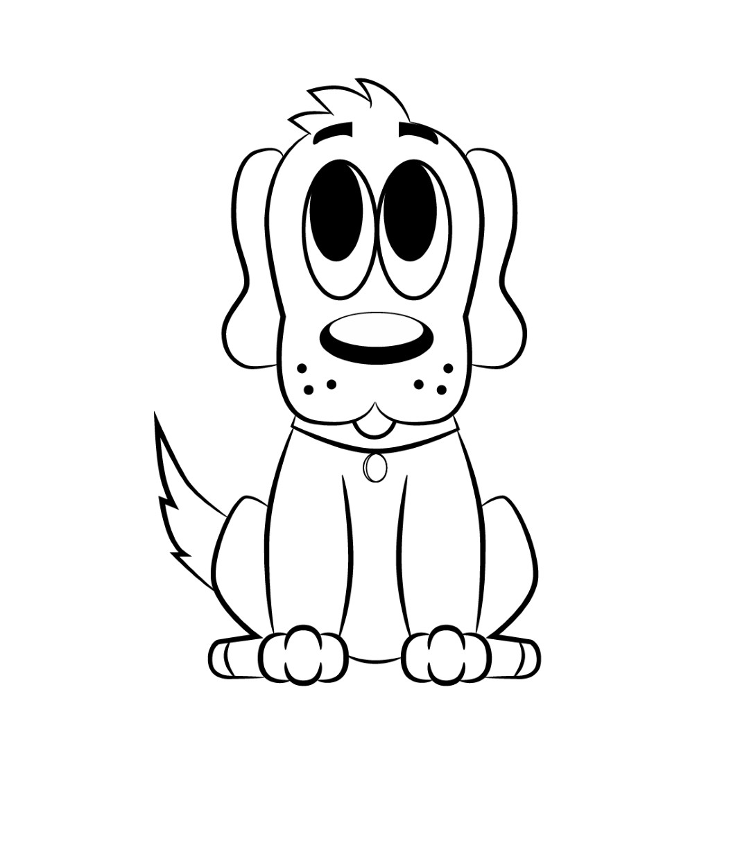 Free Line Drawing Of A Dog Download Free Clip Art Free