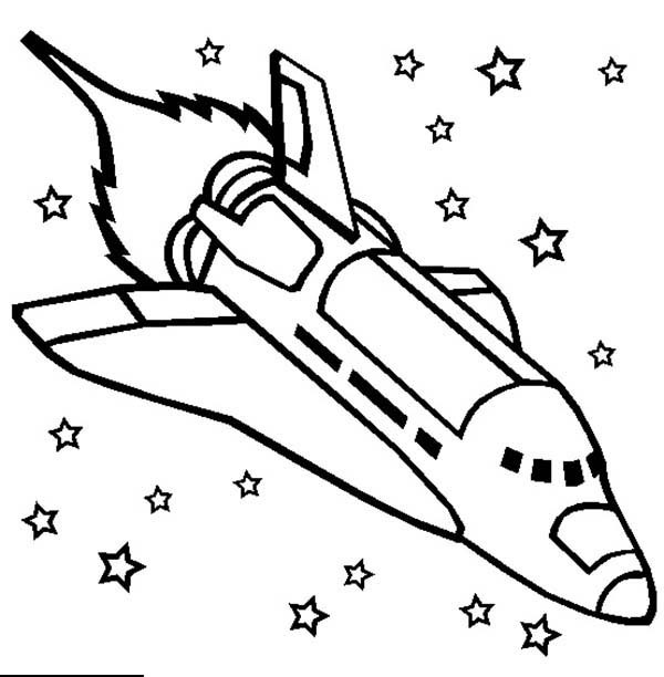 rocket ship coloring pages # 7