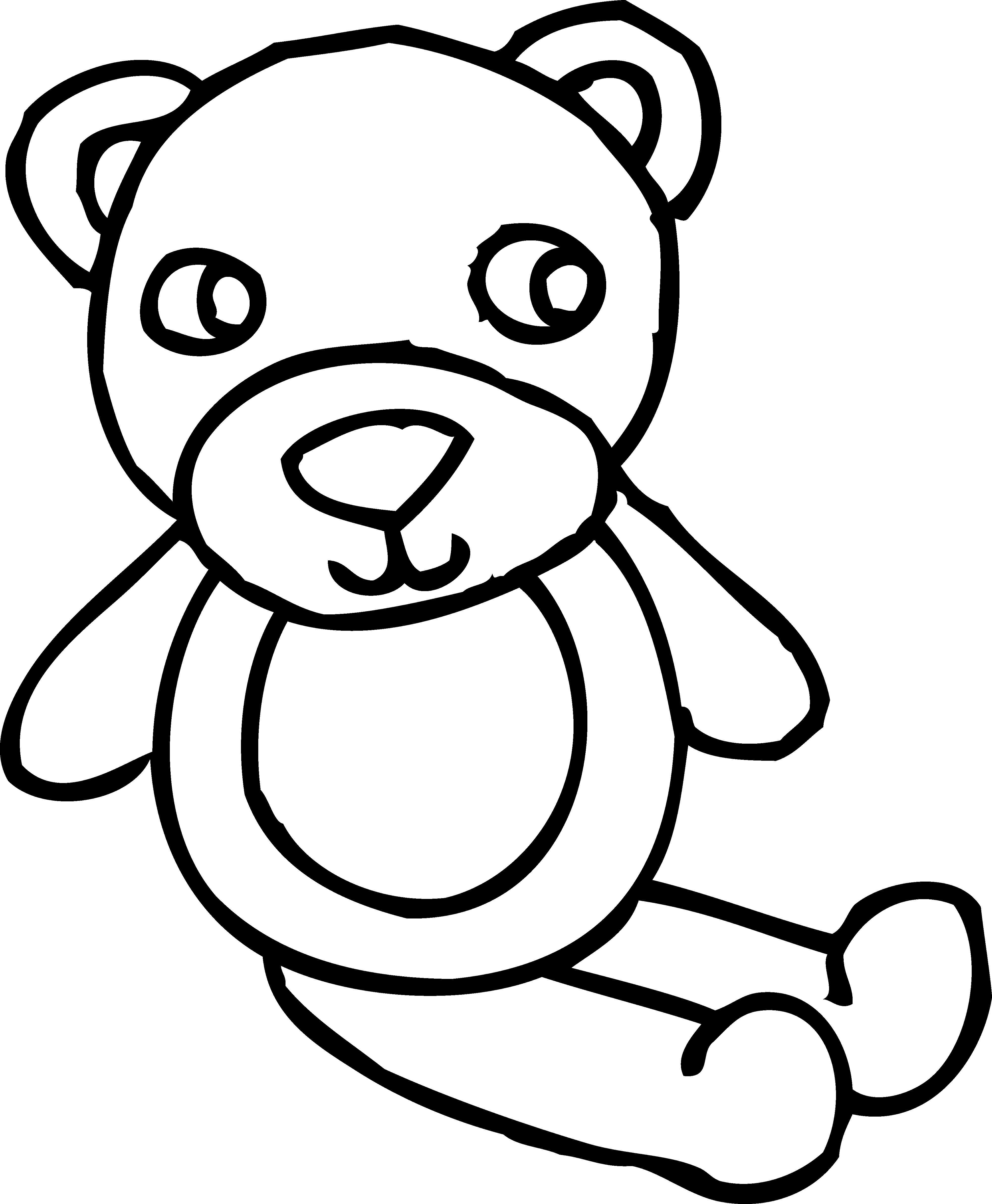 Free Outline Of A Teddy Bear Download Free Clip Art Free