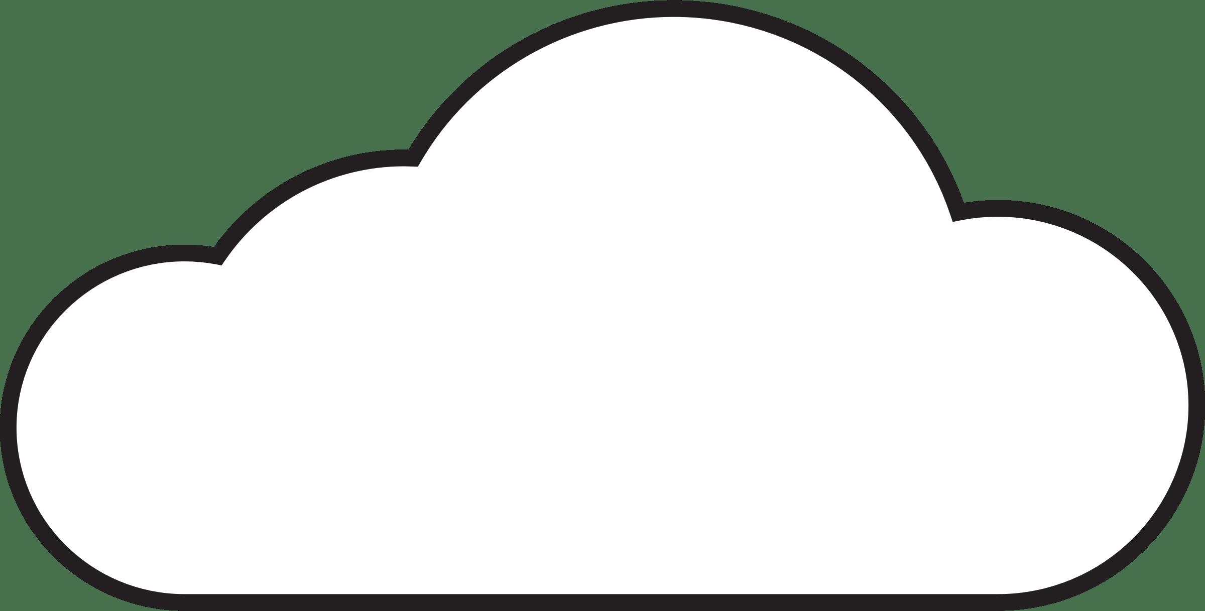 Free Cloud Outline Download Free Clip Art Free Clip Art