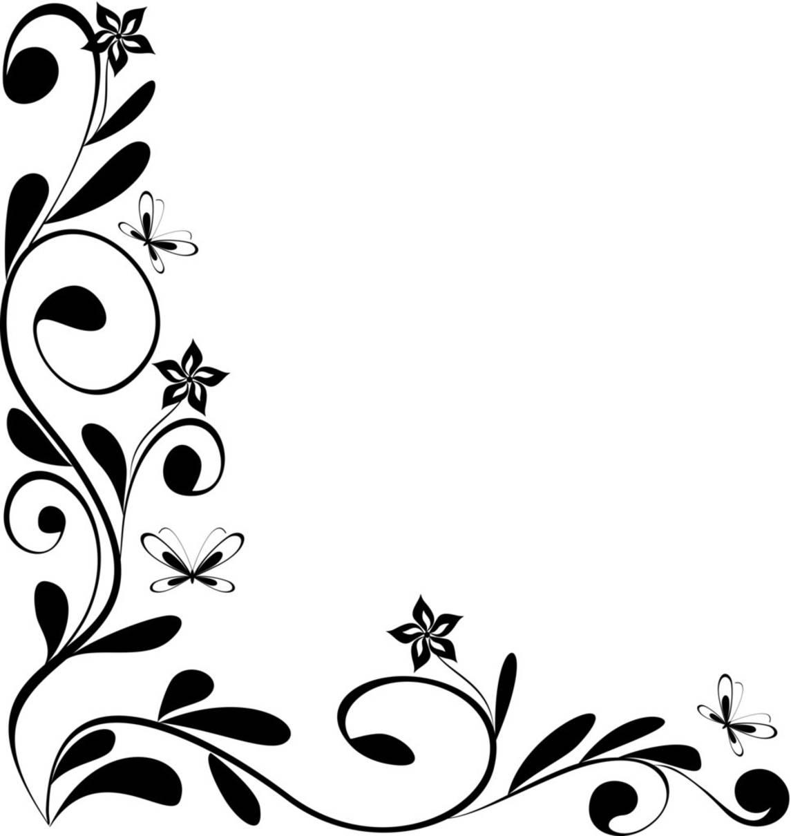 Free Flower Border Line Design Download Free Clip Art
