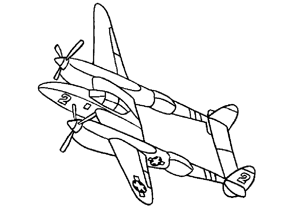 Airplane Coloring Pages Airplanes Tickets Airline Id