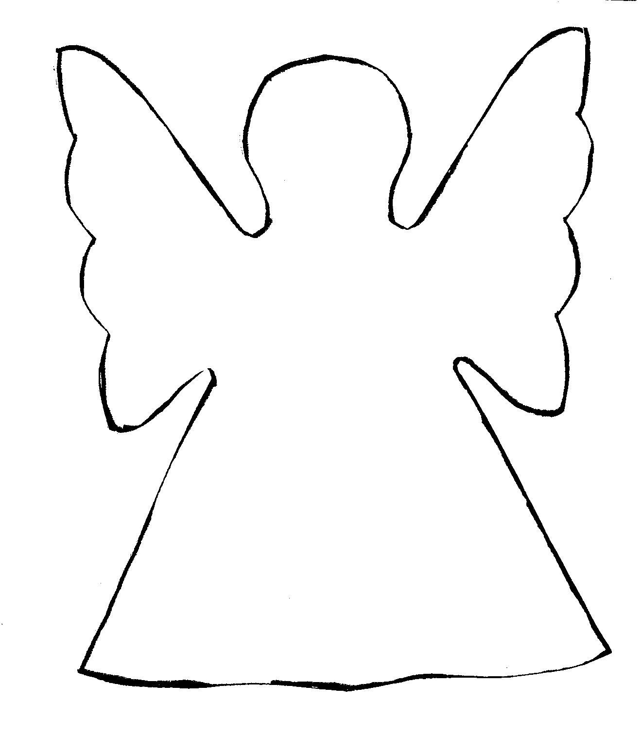 Free Angel Outline Drawing Download Free Clip Art Free