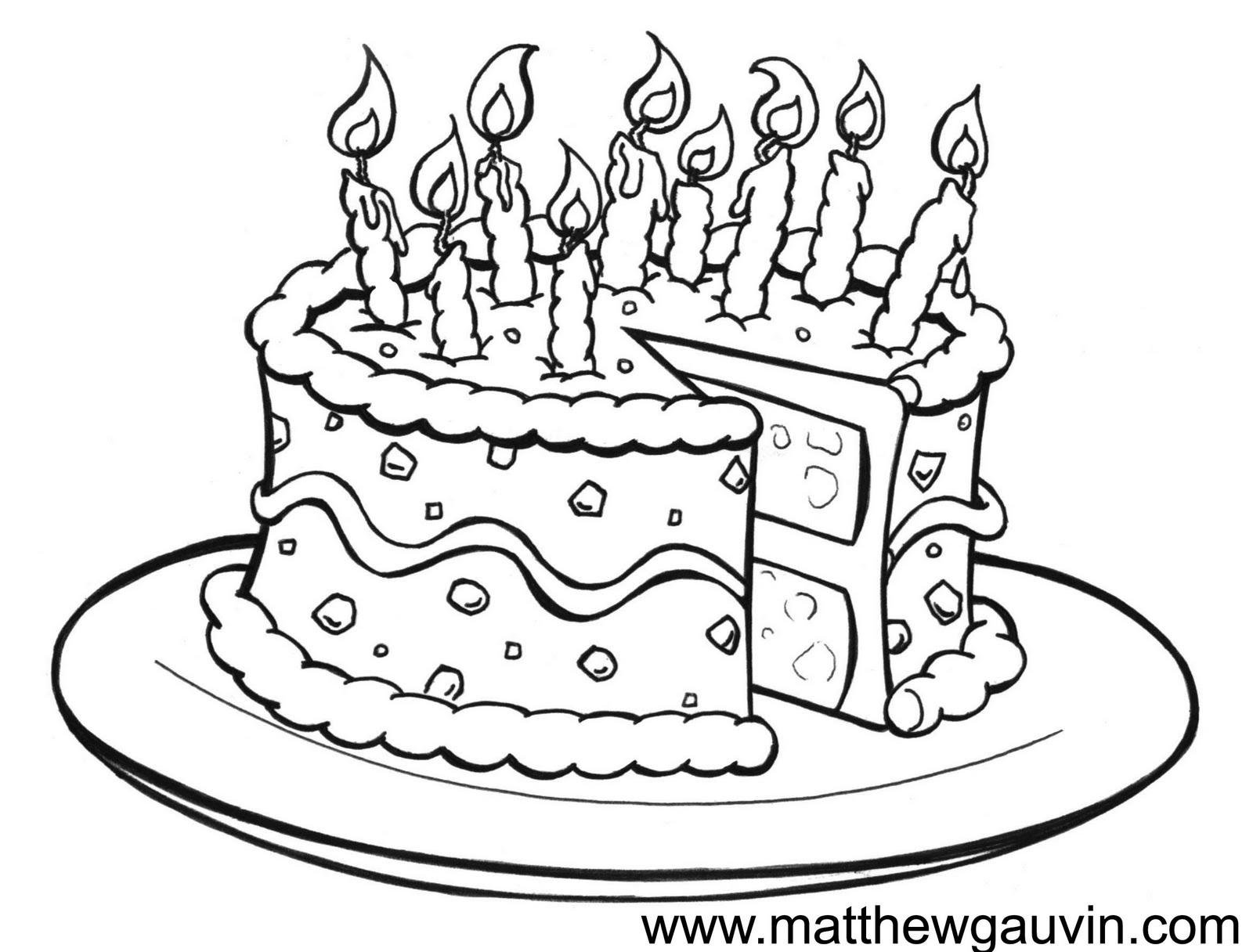 Free Birthday Cake Drawing Download Free Clip Art Free
