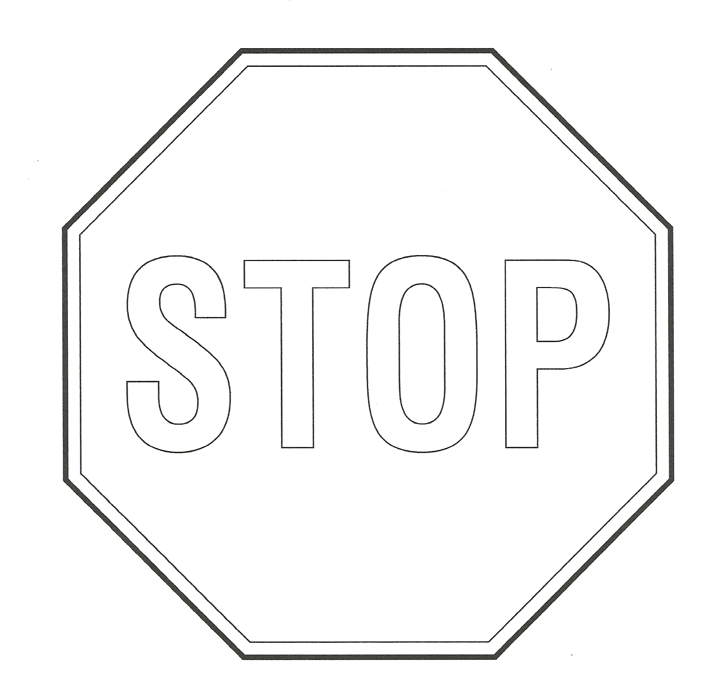 Free Stop Sign Outline Download Free Clip Art Free Clip