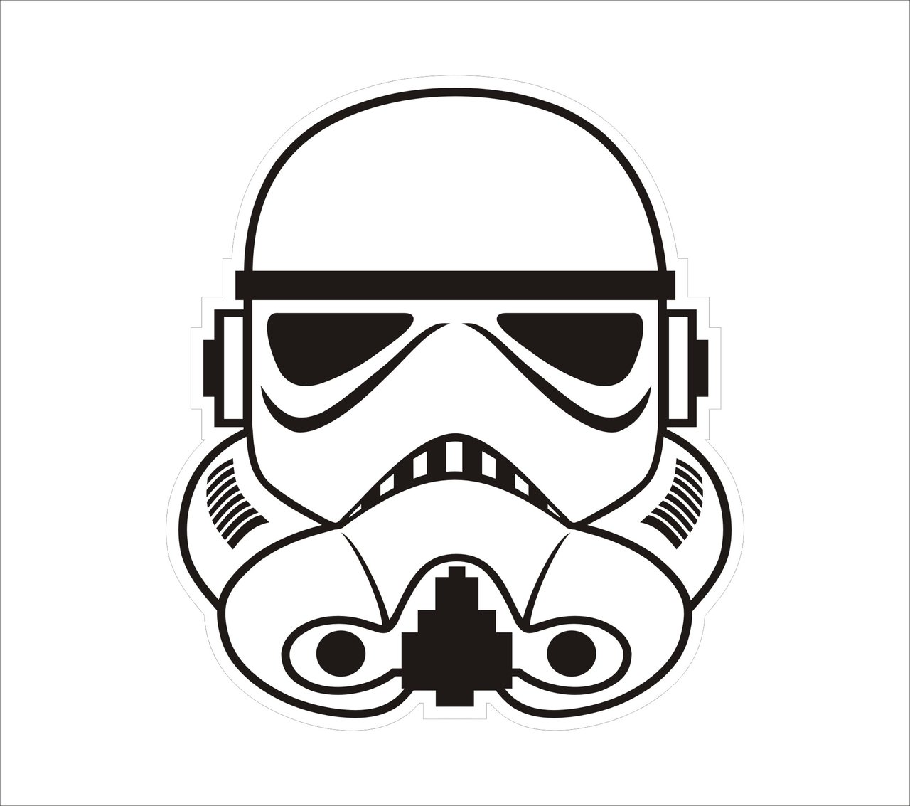 Stormtrooper Helmet Vector