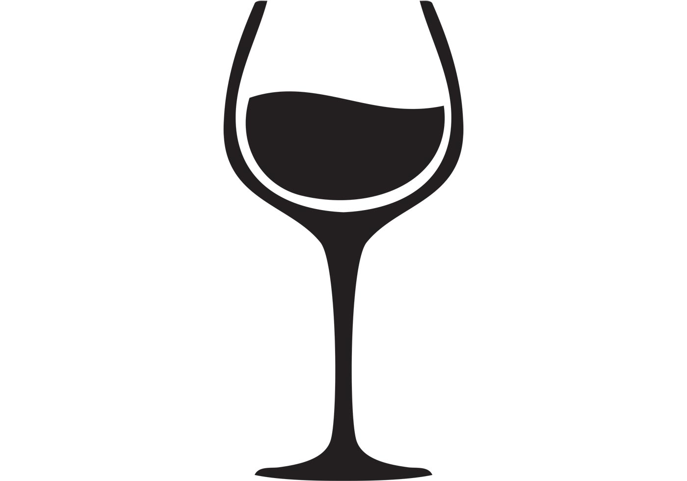 Wine Glass Silhouette Black And White Clip Art At Clipart