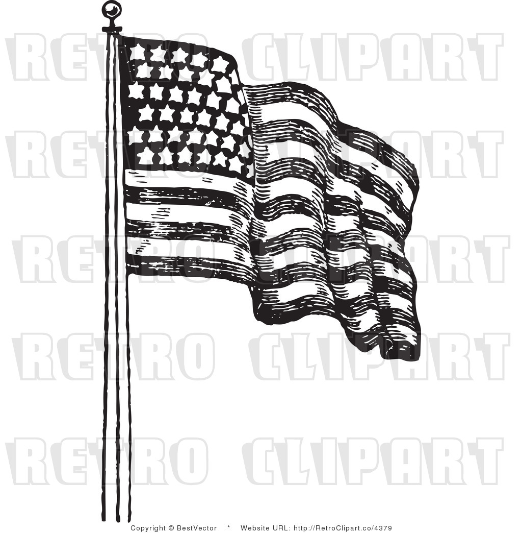 Free Waving American Flag Drawing Download Free Clip Art