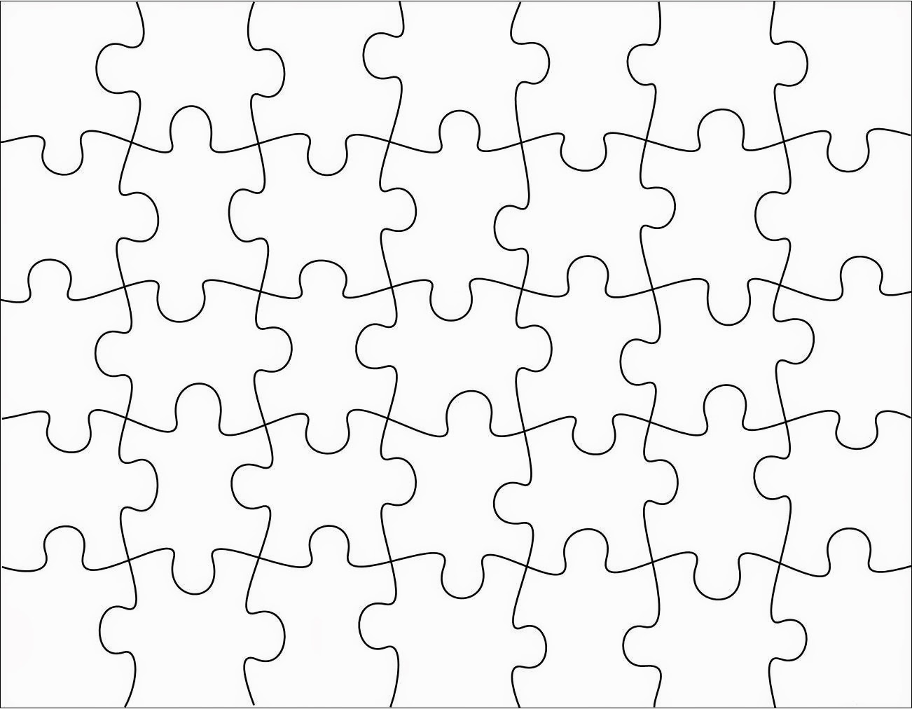 Free Puzzle Piece Template Download Free Clip Art Free